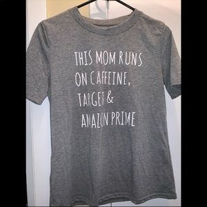 This Mom runs on t shirt